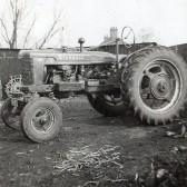 A Farmall Tractor in Pymoor, circa 1950