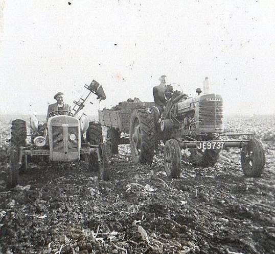 Randolph (Dot) Saberton and Derrick Godbold, circa 1950