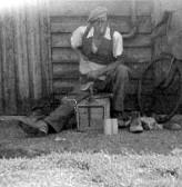 Sidney Martin in Pymoor, circa 1950
