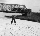 Skating on the Old Bedford River, circa 1950