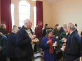 Tea and Mince Pies after the Carol Service at Pymoor Methodist Chapel 2014.