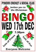 Pymoor Cricket and Social Club Christmas Bingo, 2014
