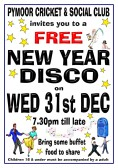 Pymoor Cricket and Social Club's Free New Year Disco, 2014