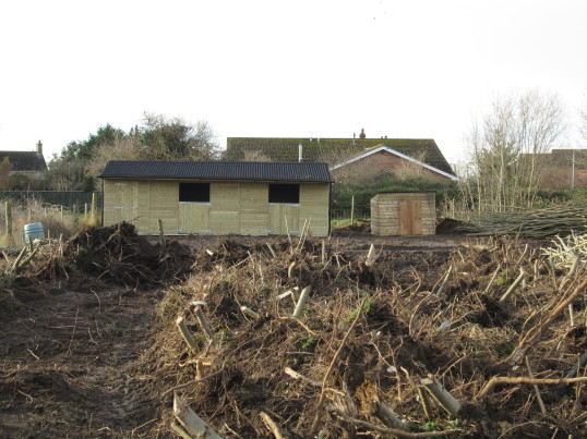 New Stables and Shed on land off Pymoor Lane, Pymoor, Dec 2014