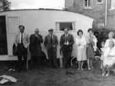 Pymoor Cricket Club's Caravan Clubhouse, circa 1965