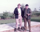 Harry and Les Barker at Pymoor Lane Farm, 1984