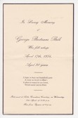 Funeral card of George Bertram Bell who passed away on the 17th April 1954 aged 30 years.