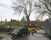 Tree Felling in Pymoor Lane 2015