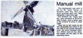 Manual Windmill at Dunkirk near Pymoor circa 1910