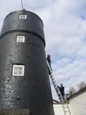 Painting the Old Mill in Pymoor Lane, Pymoor, 2012