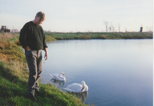 Thomas Barker at the Oxlode Fishing Lakes, Oxlode, 1994