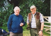 Les Barker and Ray Ayres at Oxlode Fishing Lakes, 1997