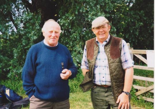 Les Barker and Ray Ayres at Oxlode Fishing Lakes, 1997