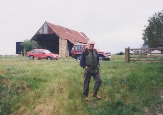 Les Barker at the Oxlode Fishing Lakes, Oxlode, 1995