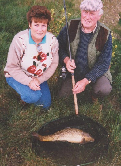 Cynthia Parson and Les Barker at Oxlode Fishing Lakes, Oxlode, 1995