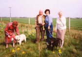 Vera Saberton, Les Barker, Pam Golding and Joan Saberton at Oxlode Fishing Lakes, Oxlode, 1995