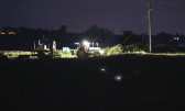Wrapping Hay Bales at night in Pymoor, 2015 (Video)