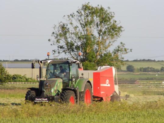 Hay Baling in Pymoor, 2015