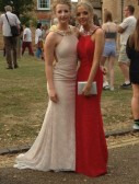 Laura and Nicole Butcher at the Ely College Prom, 2015