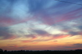 Sunset viewed from Laurel Farm, June 2014