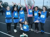 Laura Butcher of Pymoor plays netball for City of Ely Netball Club's under 16 side, 2014