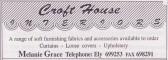 Advertisement in the Parish Magazine for Croft House Interiors of Pymoor, 1999