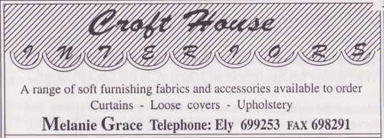 Advertisement in the Parish Magazine for Croft House Interiors of Pymoor, 1999