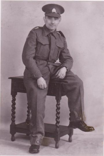 Pte. Eddie Bailey of Pymoor, circa 1940