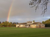 Rainbow over the Pymoor Cricket Club, 2015