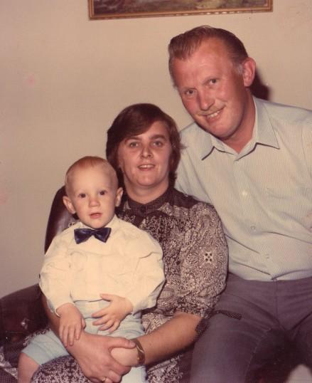 Roger, Tina and Daniel Barker, circa 1980