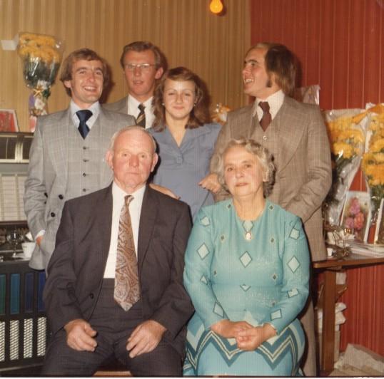 Sidney & Nelly Dewsbury's  Golden Wedding Celebrations, 1975