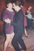 Alocha Barker and Roger Parson dancing in Pymoor, circa 1970