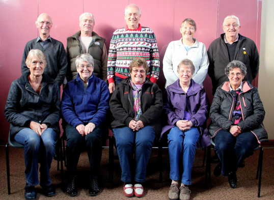 The Pymoor Community Archive Group with their Spouses at their last meeting of the year at the Methodist Chapel in Pymoor, 2015.