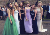 Laura Butcher of Pymoor, with her school friends at the Ely College Prom, 2015