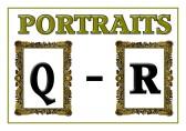 Portraits Q - R
