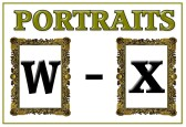 Portraits W - X