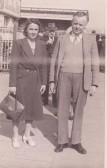 Sid and Nelly Dewsbury of Pymoor, circa 1946