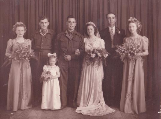 Wedding of Don and Muriel (Midge) Dewsbury, circa 1939