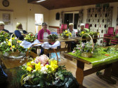 It's Ladies Night and the ladies of Pymoor and their friends enjoyed making Easter Flower Baskets with a little help and guidance from Pam Golding. March 2016
