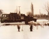 Chambers' Coal Lorry in Main Street, Pymoor Feb 1985