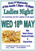 It was Ladies Night at the Pymoor Cricket and Social Club, and they brought home made savoury biscuits and cookies for all to enjoy.