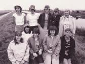 Pymoor Fishing Club Ladies on the 100 Foot Bank, Pymoor, 1984