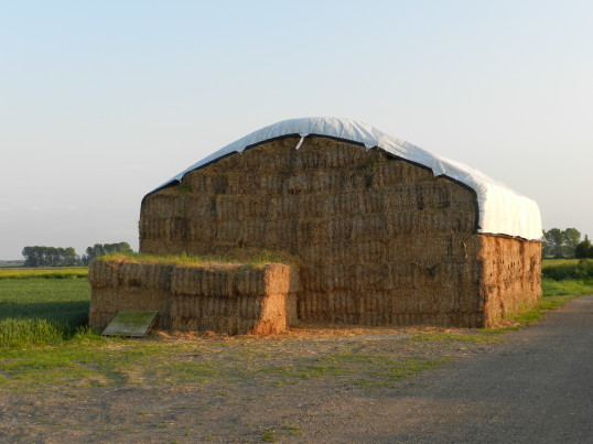 Straw Stack on Pymoor Farm, 2016