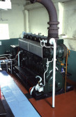 Diesel engine at the Hundred Foot Pumping Station, Pymoor, 1996