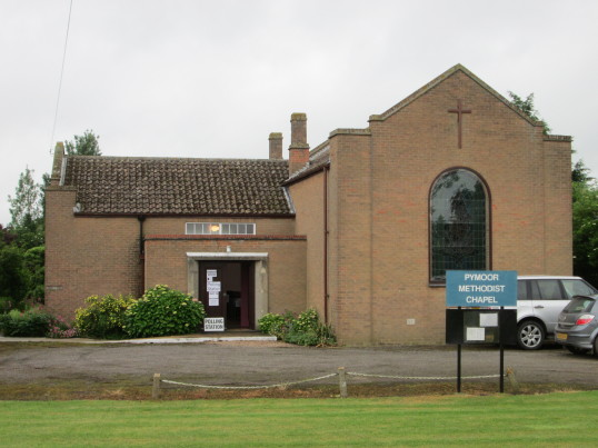 The Methodist Chapel in Main Street, Pymoor, was a Polling Station for the Referendum on the United Kingdom's membership of the European Union, 2016
