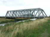 Iron railway bridge across the Hundred Foot River, Pymoor, 2009