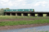 Train crossing the Hundred Foot river, near Pymoor, 2006