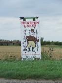 Sign for Headfen lakes, Pymoor, 2009