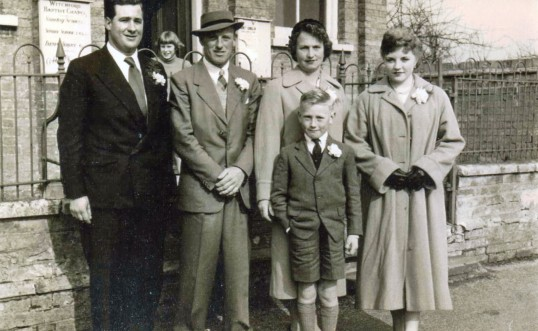 Les, Brenda and Eric Barker with June Taylor and Bill Cornwell of Pymoor, circa 1958