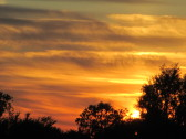 A Fenland sunset seen from Main Drove, Pymoor, 2015.